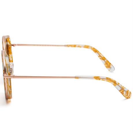 WONDERLAND【MONTCLAIR 09】Clear Beach Glass / Antique Rose Gold / Green Lens