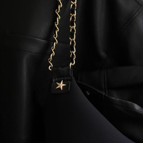 [予約販売商品] LozzSandra/CHANGE bag STAR (ブラック×ゴールドスター)