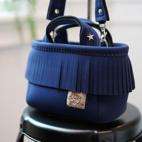 LozzSandra/fringe MINI tote bag(ネイビー)