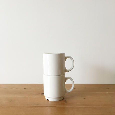 arabia white mugs