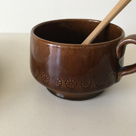 brown soup cup