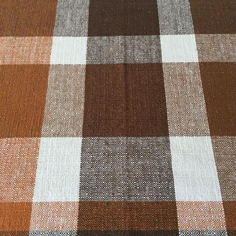 brown check cloth