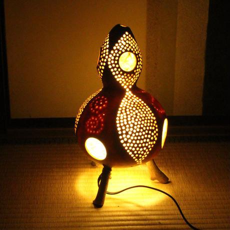 ひょうたん灯(月と葉っぱ3)