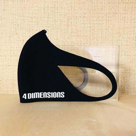 4DIMENSIONS フェイスマスク マークパターン②ウエットスーツ素材マスク 再入荷いたしました