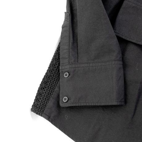 Rhythmor(リズモア)切替オックスシャツ BLACK