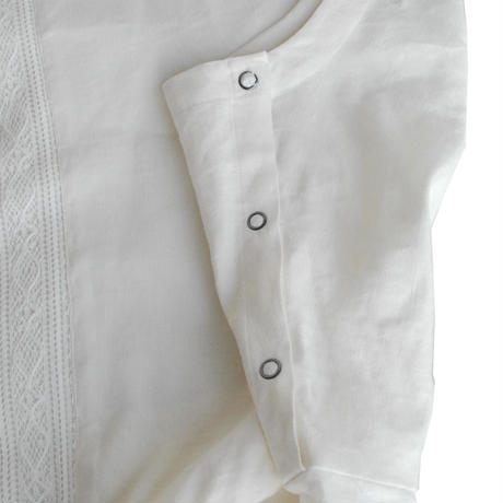 Rhyhmor(リズモア)リネンプルオーバー WHITE