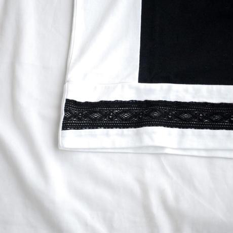 Rhytmor(リズモア)レース切替Tee BLACK