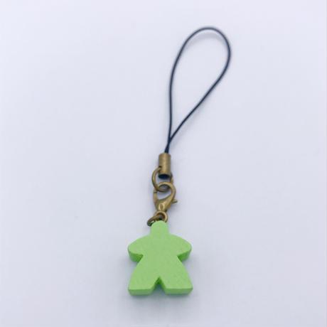 木製ミープルストラップ(Lite Green)