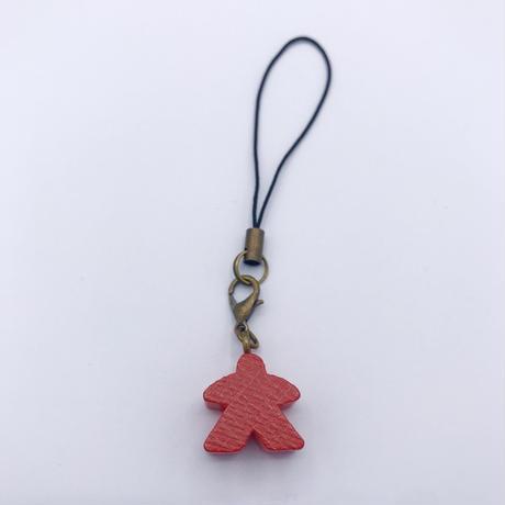 木製ミープルストラップ(Red)