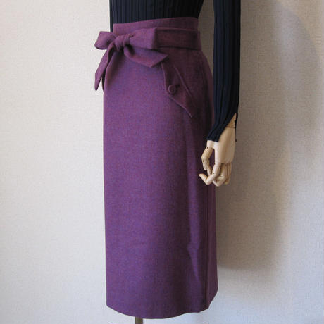 SONO  ribbon skirt purple