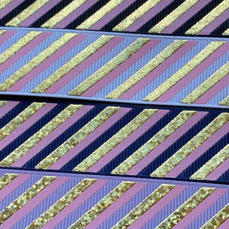 25mm ゴールドホロ斜めストライプグログラン 10種x2m@20mセット
