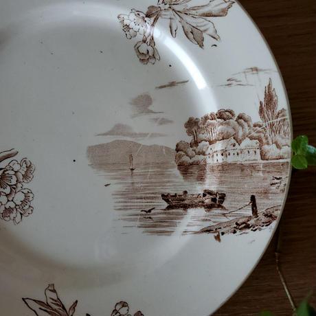 クレイユモントロー 桜のプレート 小舟