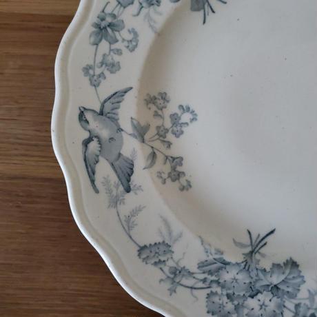 小鳥とお花の花リムコンポティエ/ケーキスタンド単色
