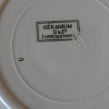 サルグミンヌ ゼラニウムのプレート#4