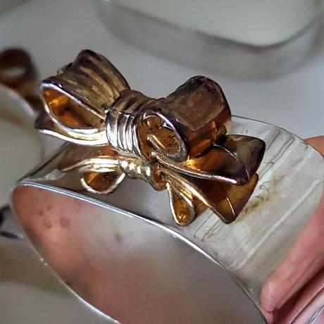 リボンモチーフのナプキンリング5個セット