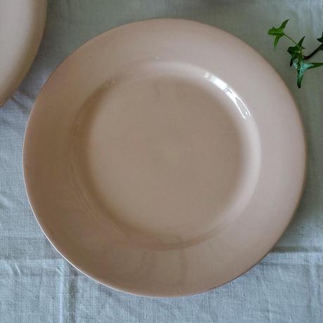 パウダーピンクのディナープレート#2