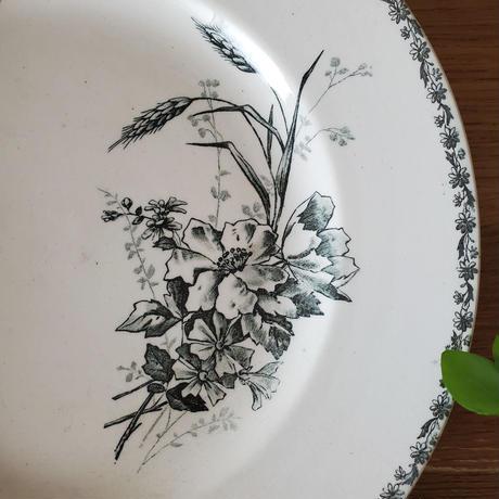ショワジー ル ロワ HB&CIE小鳥や蝶のプレート 大皿