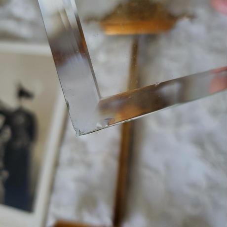 リボンモチーフ厚ガラスのフォトフレーム