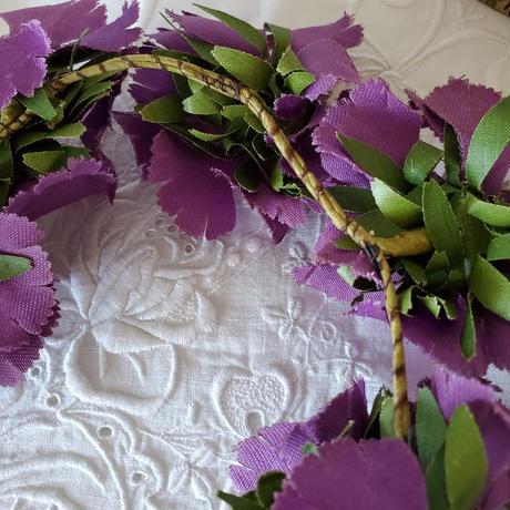紫布花のティアラ