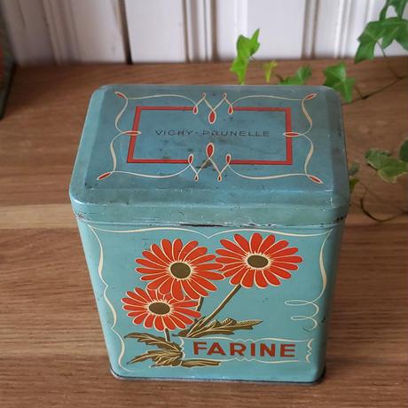 VICHY-PRUNELLEのtin缶キャニスターFARINE