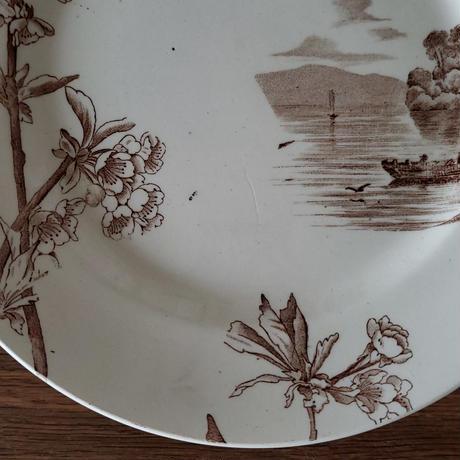 Creil&Montereau  桜のプレート/ケーキスタンド小舟