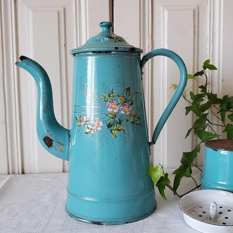 素朴な小花の手描きコーヒービギン
