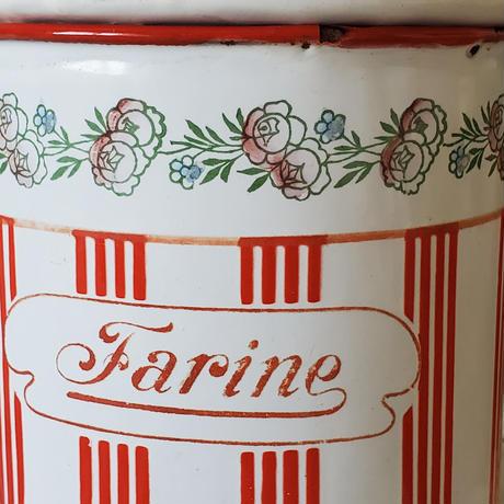 BB社ローズガーランド赤ストライプのキャニスター Farine