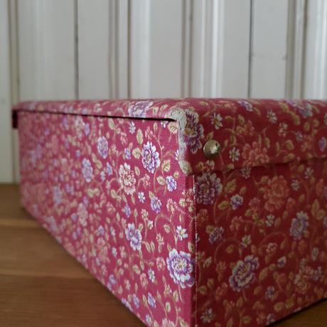 花柄カルトナージュのお裁縫箱/オールドローズ
