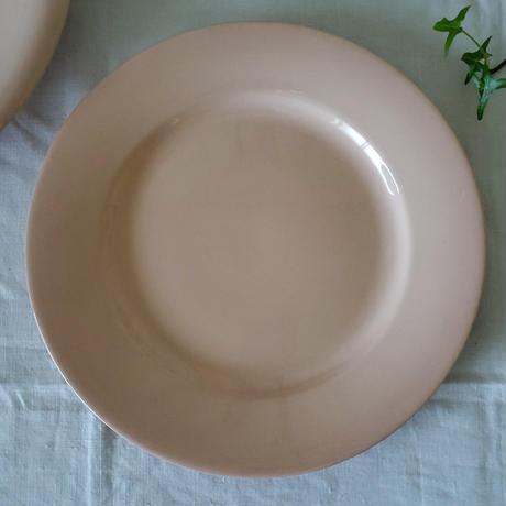 パウダーピンクのディナープレート#3