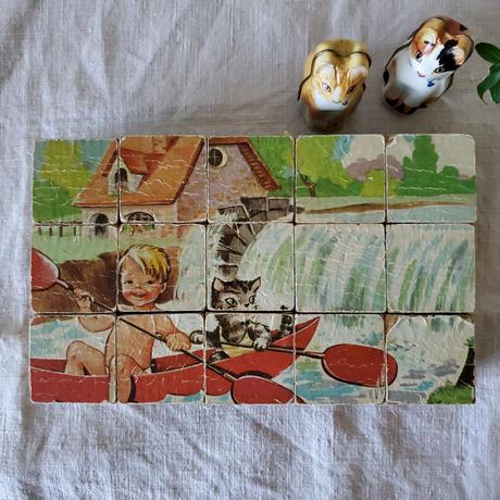 猫のブロックパズル/積木
