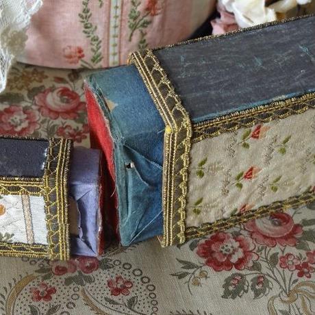 フレンチファブリック&金糸トリムのマッチ箱セット