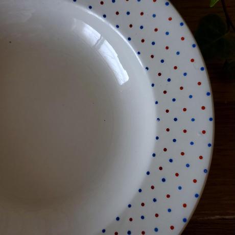 ベルギーNIMY製ドットのスーププレート#2
