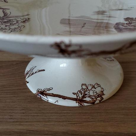 Creil&Montereau  桜のプレート/コンポティエ小舟