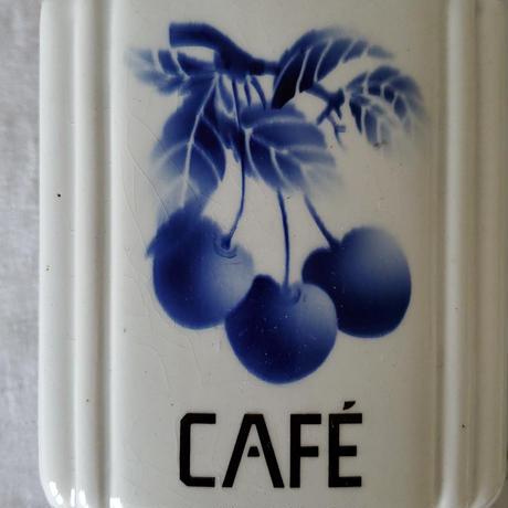 チェリー柄 壁掛けコーヒーミル