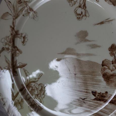 クレイユモントロー 桜のデザートプレート 小舟