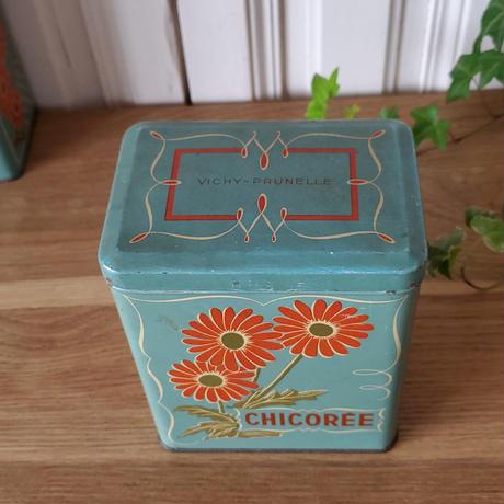 VICHY-PRUNELLEのtin缶キャニスター CHICOREE