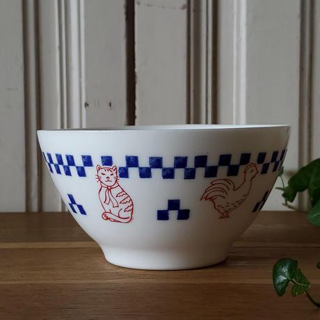 ヴィンテージarcopal 猫やアヒル柄 カフェオレボウル