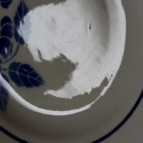 サンタマン 青バラのプレート