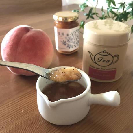 桃と紅茶のジャム