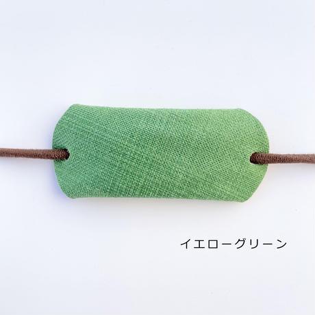 レザーのヘアゴム(グリーン・ブルー系)