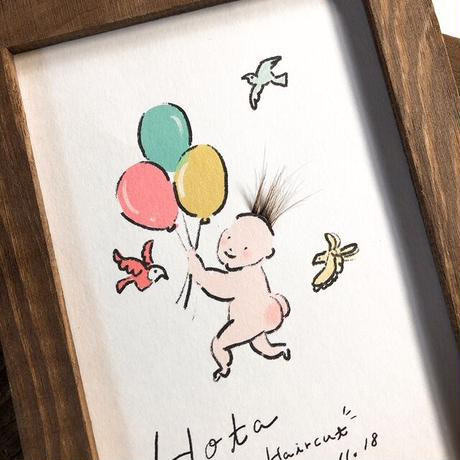 赤ちゃんファーストヘアカットアート