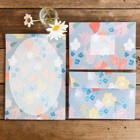 野花のレターセット(便箋20枚+封筒10枚のボリュームセット♡)