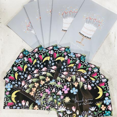 Ricco.オリジナル thanks card & Birthdaycard  15枚set
