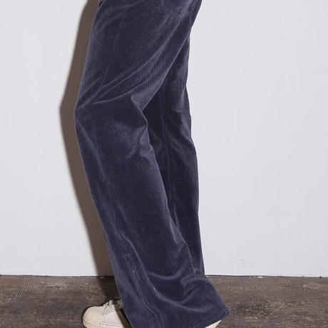 7W CORDUROY BIO WASHED BOOTCUT PANTS(NAVY)