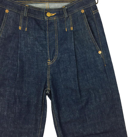 RED SELVAGE TUCK JEANS