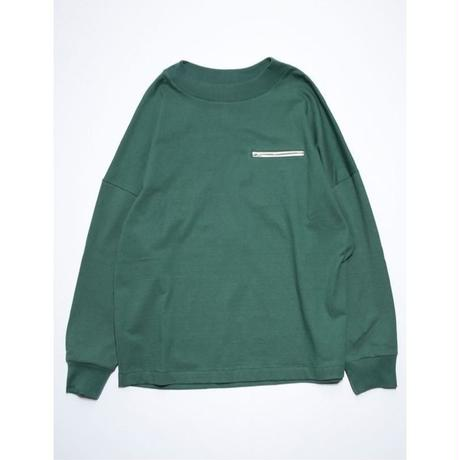 OUTSIZE DROP ZIP POCKET L/S TEE (GREEN)