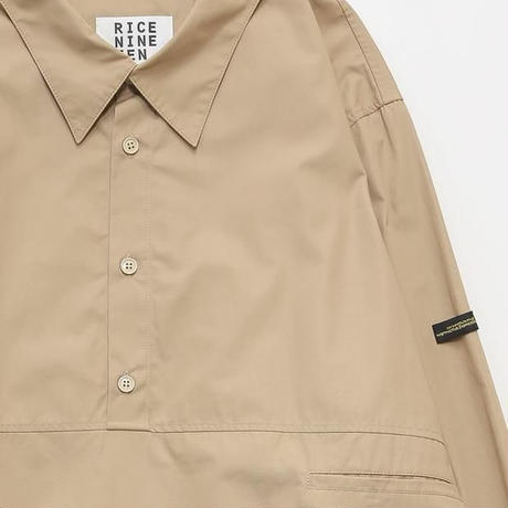 PULL OVER TYPEWRITER SHIRT (BEIGE)
