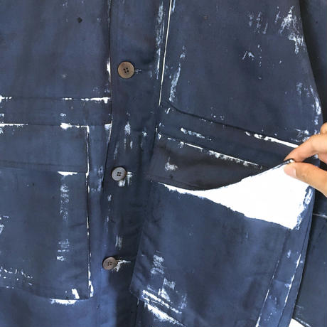 HAND PAINT COAT (NAVY)