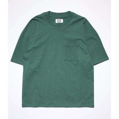OUTSIZE DROP POCKET TEE  (GREEN)
