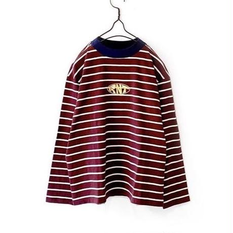 RNT HORIZONTAL STRIPE L/S TEE (PURPLE)